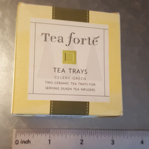 Tea Forte Ceramic Tea Trays for Silken Tea Infuser
